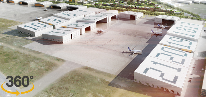 Visite 360° de l'Aéroport